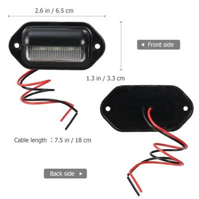 WINOMO 2PCS CAR LED (СВЕТОДИОД ) LICENSE PLATE TAG LIGHT 12V SI