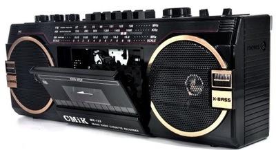 Radioodtwarzacz Ghettoblaster Kaseta USB Radio MP3