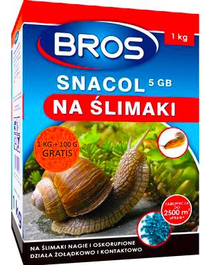 Bros Snacol 5ГБ средство отрава на улитки 1кг + 10 %