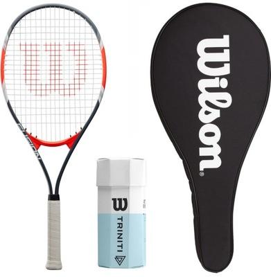 Zestaw do tenisa WILSON rakieta+piłki+pokrowiec