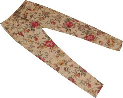 PLEASE_38_Spodnie W KWIATY rurki 487