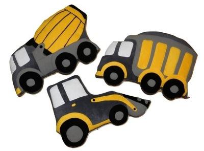 poduszki polarowe dla dzieci pojazdy budowlane XL
