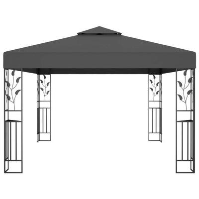 Altana z podwójnym dachem, 3x4 m, antracytowa