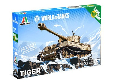 Italeri 34103 TIGER - WoT - Easy to Build 1 :72