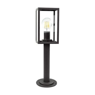 Lampa OGRODOWA stojąca ZEWNĘTRZNA E27 Czarna SZKŁO