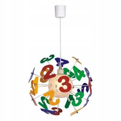 Kolorowy Żyrandol Dziecięcy Lampa Wisząca Liczby