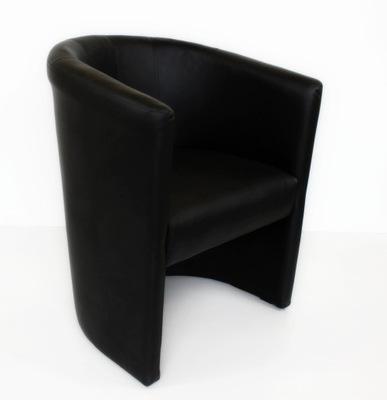 Fotel Klubowy Tomi - Skaj eko-skóra czarny