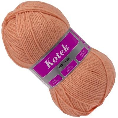 Włóczka KOTEK 100% Akryl miękka 100g Różow 19-2225