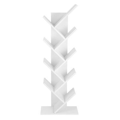 Geometryczny Regał Półka na Książki Biały