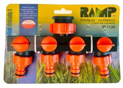 Подключение на кран 1 дюйм красный.3 /4 с 4 краях RAMP
