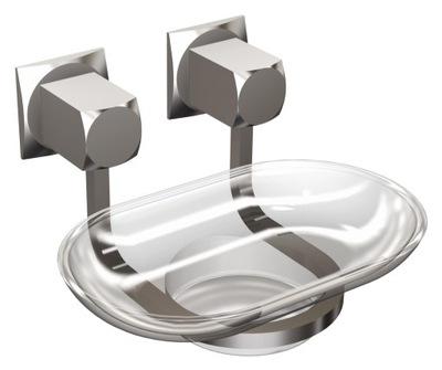 Dávkovač tekutého mydla sklo, chróm nástenné matné sklo