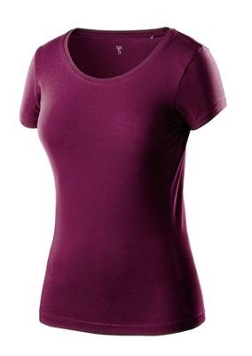 T-shirt damski bordowy, rozmiar L NEO 80-611-L