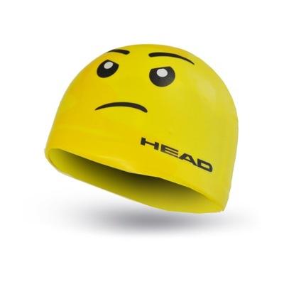 HEAD SKETCH YELLOW FACE silikonowy czepek pływacki
