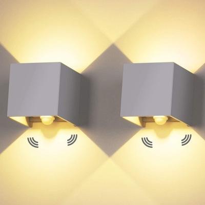 Lampa Kinkiet LED Zewnętrzny Czujnik Ruchu 2szt