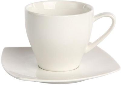 чашка с тарелкой 200мл фарфор кремовый