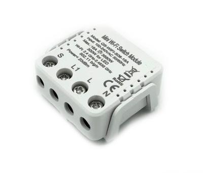 Przekaźnik dopuszkowy światła WiFi włącznik TUYA