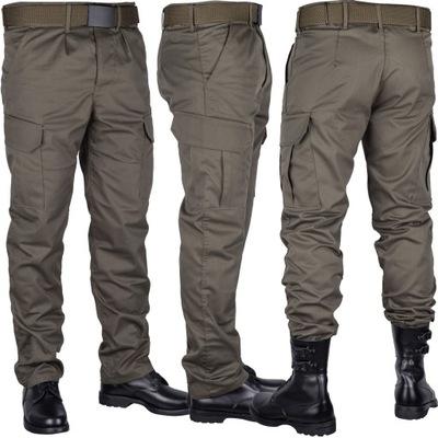 Spodnie wojskowe OLIVE Bojówki zielone khaki r. XL