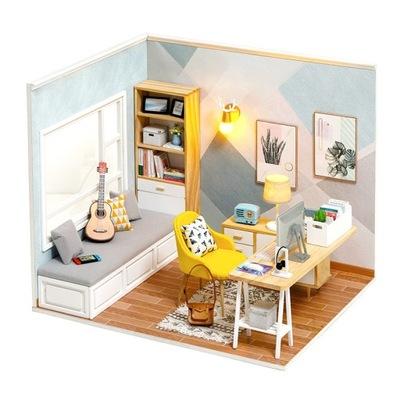 Zrób to sam Drewniany Domek DIY POKÓJ DUŻY LED