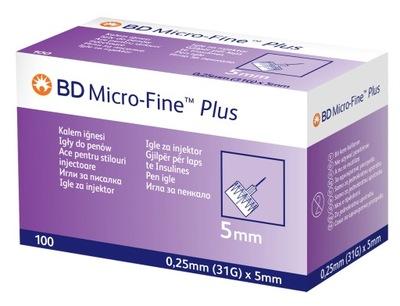 Igły do penów BD Micro-Fine 31G x 5mm