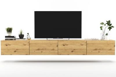 Wisząca Szafka RTV Loft artisan komoda RTV 240cm
