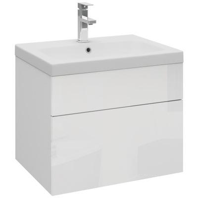Wisząca szafka łazienkowa pod umywalkę 60 cm biała