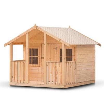 Domek zabaw dla dzieci Oliwia drewno suszone 14mm