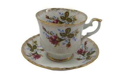чашка простая С тарелкой ИВОНА  роза