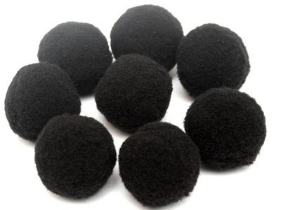 POMPONY puszyste 2,5 cm 10 sztuk czarne
