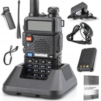 BAOFENG UV-5R HTQ 5W RADIOTELEFON PMR NOWY MODEL