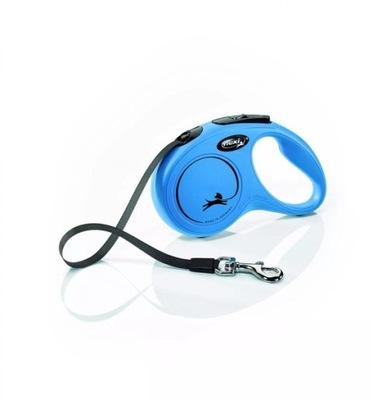 Flexi New Classic Smycz Automat Taśma S 5m Blue