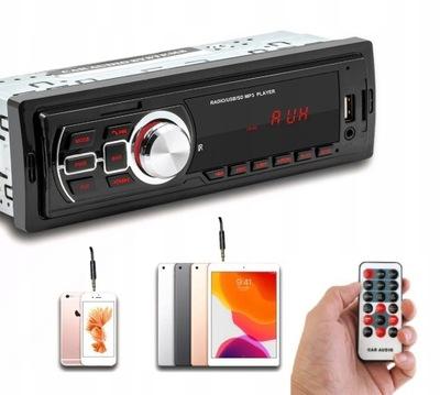 RADIO DE AUTOMÓVIL MP3 FM SD USB AUX MMC ISO CONTROL REMOTO