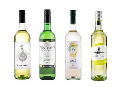 комплект 4 вино белое , БЕЗАЛКОГОЛЬНЫЕ напитки Ноль %