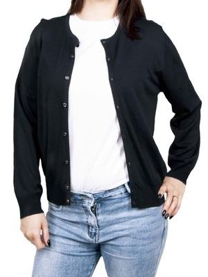 Sweter damski rozpinany klasyczny czarny L YOCLUB
