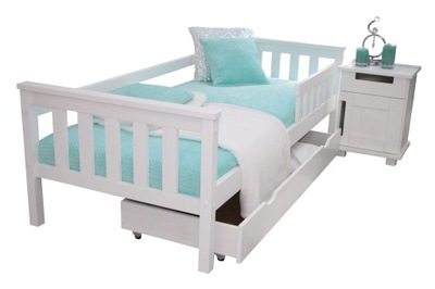 кровать детское белое ASIA 80x180 +КАРКАС барьер