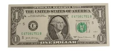 Banknot 1 Dolar USA 2017 r. jeden banknot stan UNC