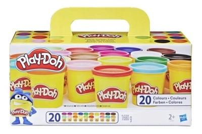 PLAY DOH A7924 kreatywny zapas 20 tub ciastolina