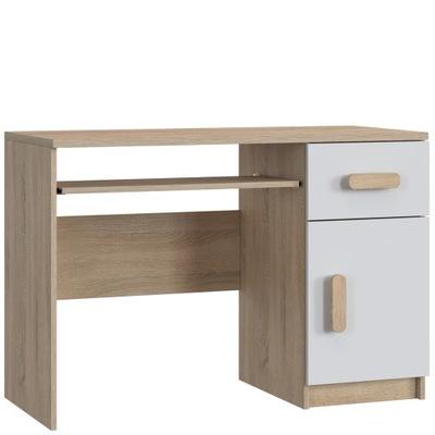 Meble młodzieżowe biurko 110 cm półka BIAŁE kolory