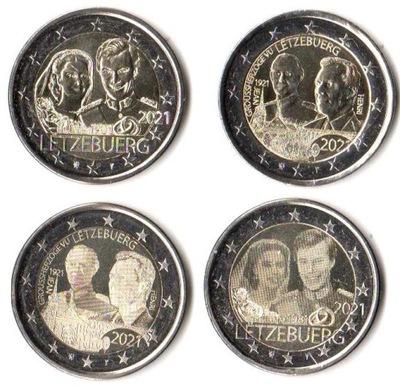 2 euro okol. Luksemburg 2021 NOWOŚĆ - 4 monety MAM