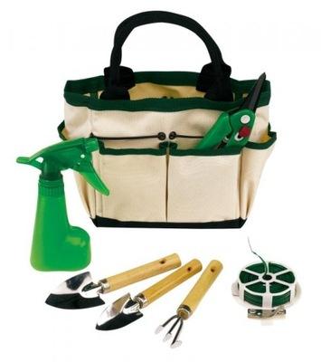комплект 7 садовых инструментов + сумка комплект САД