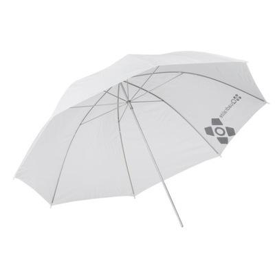 Parasolka Quadralite biała transparentna 120 cm