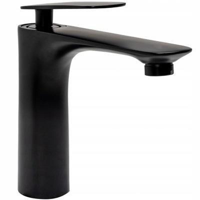 Čierna čierna umývadlová batéria čiernej farby - Rea