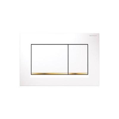 Geberit Sigma30 na tlačidlo štart biele zlato
