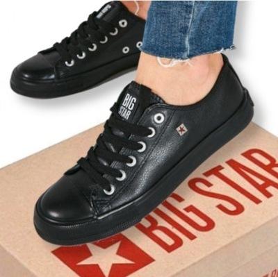 Buty damskie sneakersy trampki BIG STAR skórzane