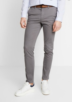 TOM TAILOR spodnie chinosy materiałowe 31/34