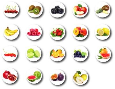 Магниты на холодильник фрукты МАГНИТ фрукты  19 штук