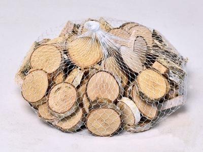 Plastry drewna brzoza krążki 5-8cm/100szt
