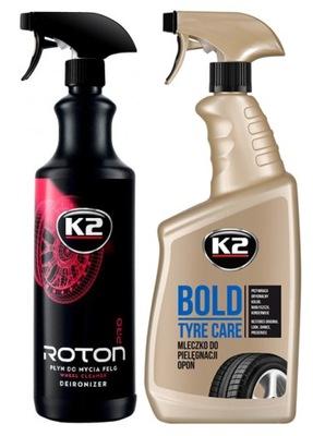 K2 ROTON PRO + BOLD DO PIELĘGNACJI FELG I OPON
