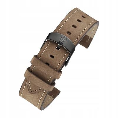 Skórzany pasek Timex 20mm brązowy T49905 P49905