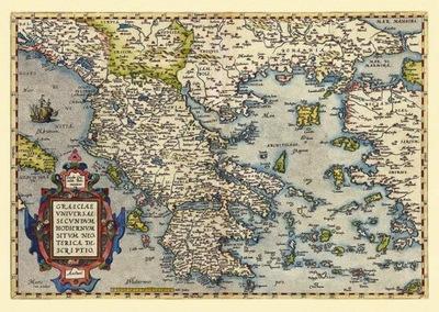 Старая карта Греции