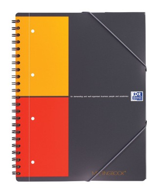 Kołonotatnik szary Oxford Meetingbook A4 w kratkę